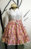 Handmade Classic Rose Lolita Skirt by Kinbarri