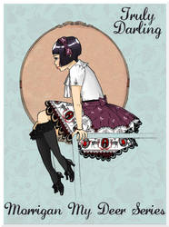 Truly Darling Lolita Art: Morrigan Skirt by Kinbarri
