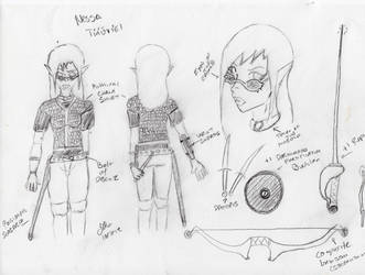 Character Sheet: Nessa Tinuviel Sketch by brutus87
