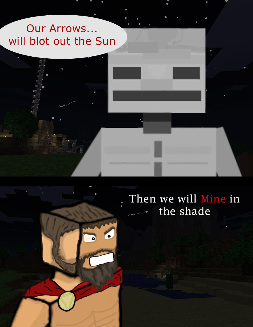 Spartans in MineCraft by AirTyler