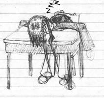 Sleeping at school by Xentalion