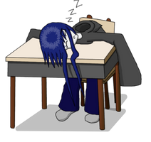 Sleeping at school Coloured by Xentalion