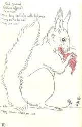 Red Squirrel by VanessaHolanda