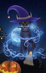 Halloween Contest | Magic night by LULUVIP