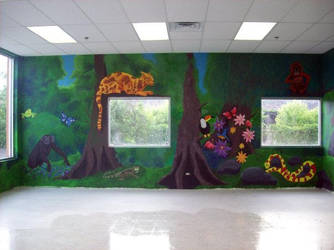 Jungle Mural2 by jazbeetle