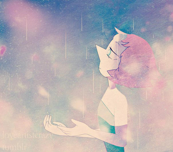 Pearl + rain by LoveArtistCrazy