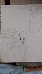 A Undertale Sketch by SpiritofFire2000