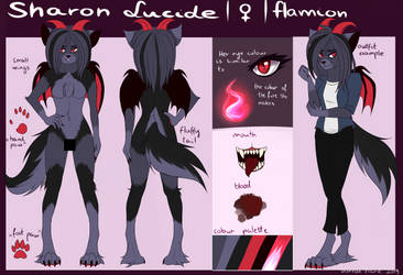 [Reference Sheet] [2019] Sharon by varron-flare