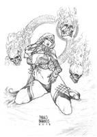 dark sorceress by paulobarrios