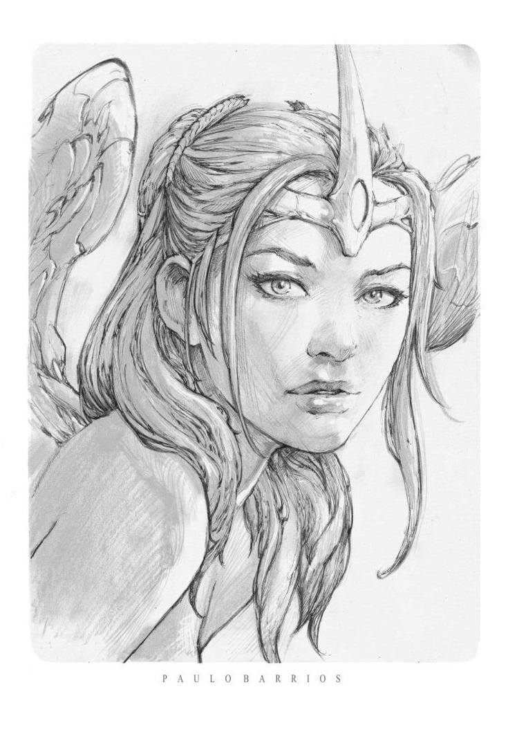 Grace sketch by paulobarrios