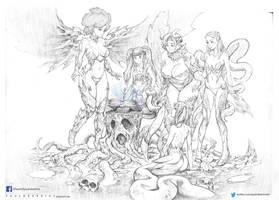 fantasy girls drawings by paulobarrios