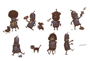 Just funny robots by Sidxartxa