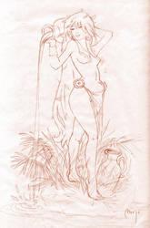 Goddess sketch by Sidxartxa