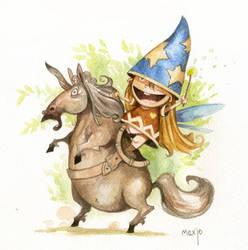 Happey fairy and fat unicorn. by Sidxartxa