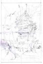Dharma Boat sketch 1 by Sidxartxa