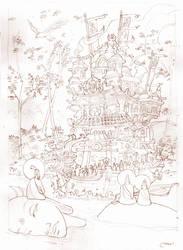 Dharma Boat lineart by Sidxartxa