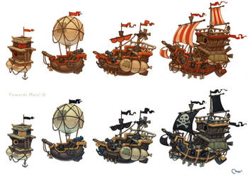 Pirates ships by Sidxartxa