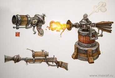 steam gunzz by Sidxartxa