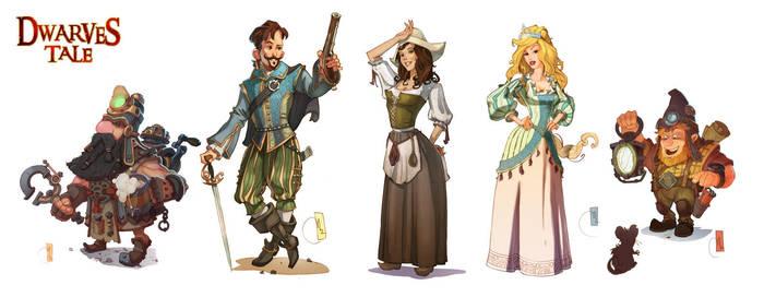 Dwarves'Tale Characters by Sidxartxa