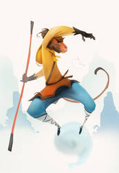 Monkey King (speedpainting) by Sidxartxa