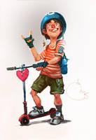 Scooter Boy by Sidxartxa