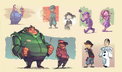 People sketches 1 by Timooon