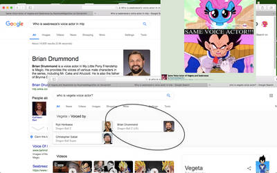 Vegetas voice actor also voices Seabreeze in mlp?! by roseswirl78