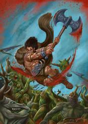 The Horned God against the Fomoire by Blensig