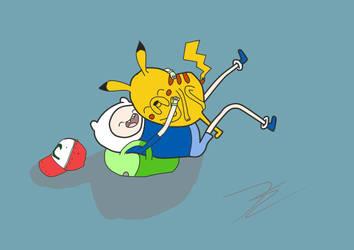Jake and Finn Pokemon by KawaiiKayley