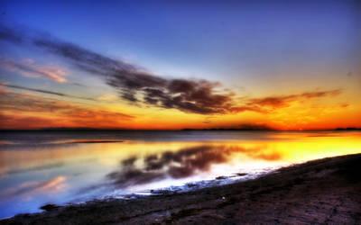 Sunset on the Beach by ryanstfu