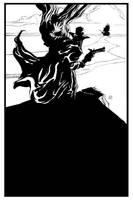 Solomon Kane black and white by deankotz
