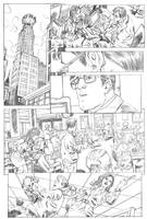 Superman pg 1 pencils by deankotz