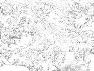 Charmed Issue 9 pgs 2 and 3 by deankotz