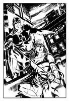 Daredevil and Elektra by deankotz