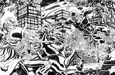 Daredevil vs. Headless Horseman by deankotz