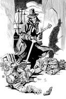 Solomon Kane in the Pirate's Den by deankotz