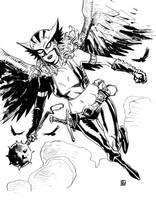 Hawkgirl sketch by deankotz