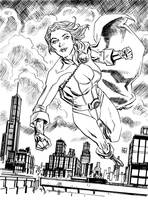 Power Girl sketch by deankotz