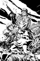 Sgt. Rock and Mademoiselle Marie by deankotz