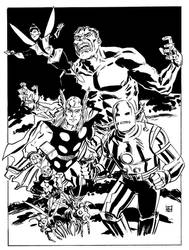 The Avengers by deankotz