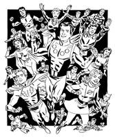 Silver Age Legion of Super-Heroes by deankotz