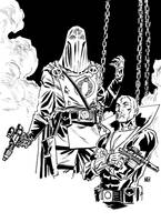 Cobra Commander and Destro by deankotz