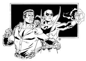 Power Man and Iron Fist by deankotz