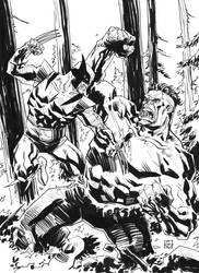 Hulk vs Wolverine by deankotz