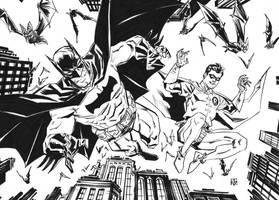Batman and Robin by deankotz