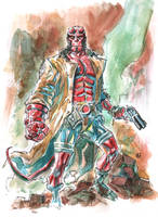 Hellboy sketch. by deankotz