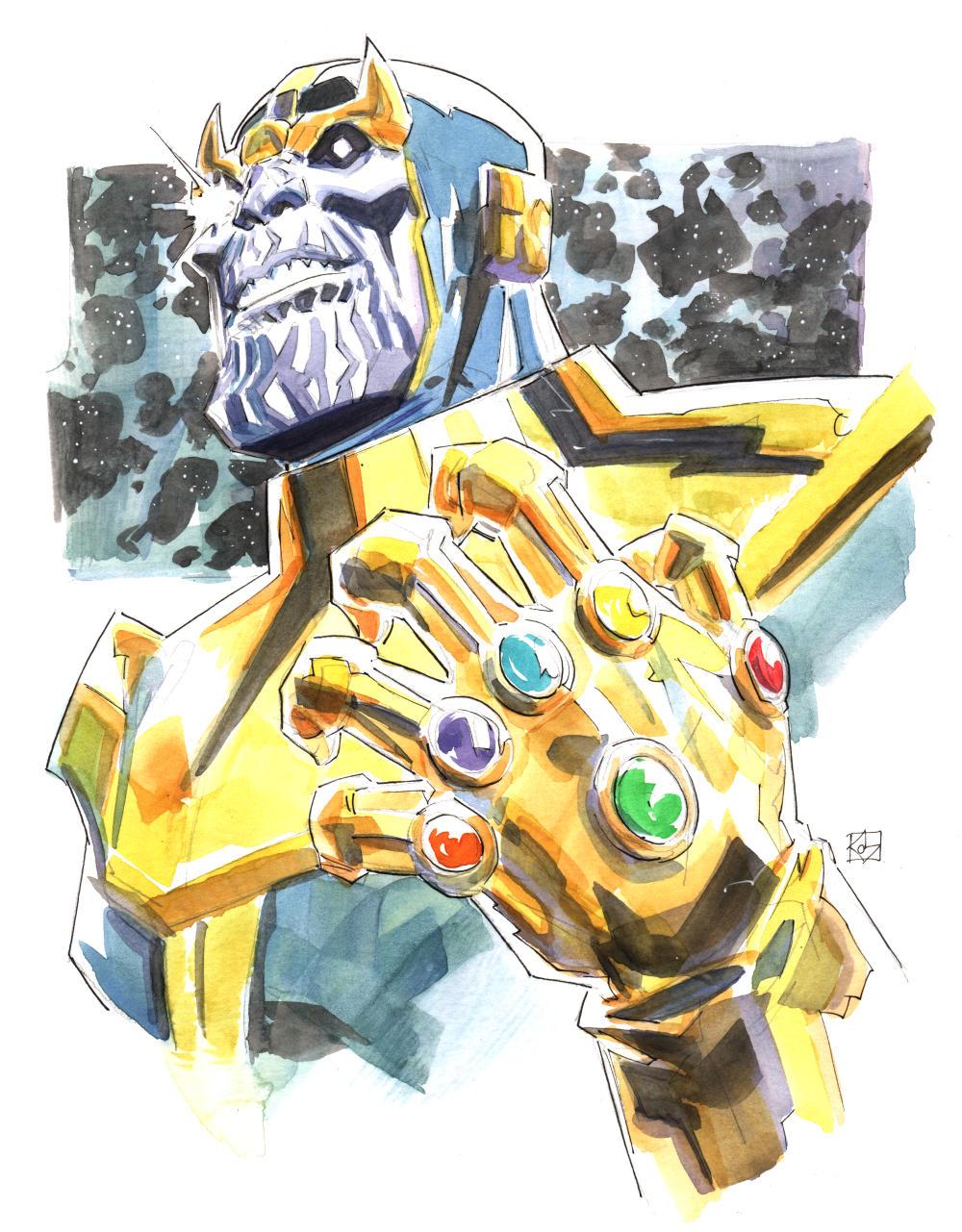 Thanos sketch by deankotz