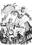 Blue Beetle and Booster Gold by deankotz