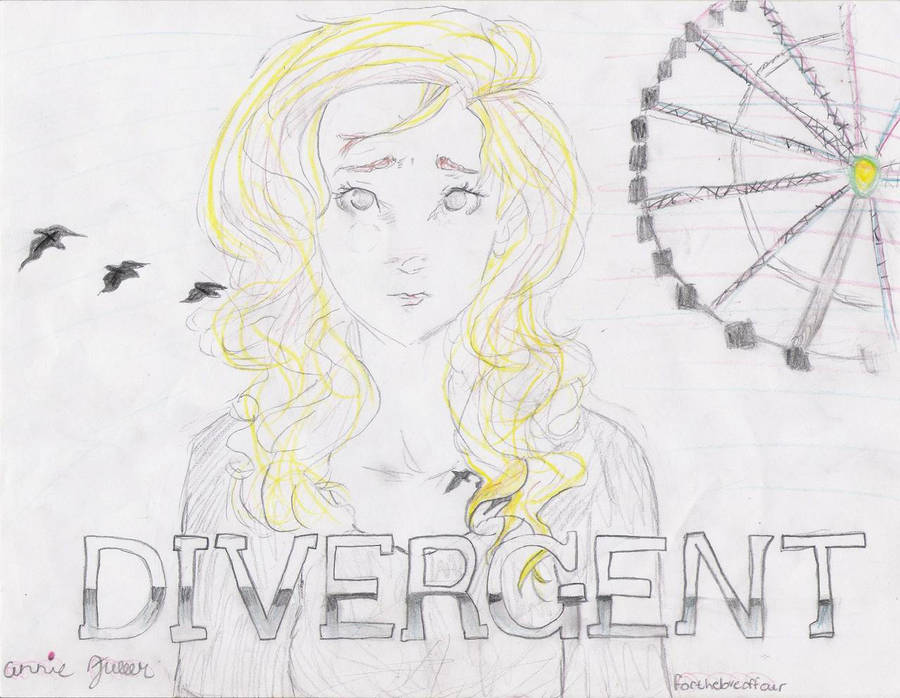 my drawing of tris from divergent by annielikesmuffins on deviantart