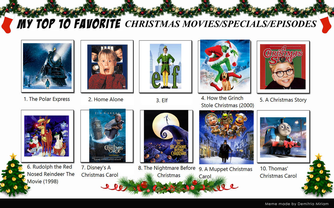 my top 10 christmas specialsmovies by blueengineliz6